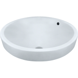 "Polaris 18"" Porcelain Round Bathroom Vessel Sink - White P28122VW"
