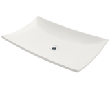 "Porcelain Vessel Sink, 23 1/2"", Rectangular, Polaris, P063"