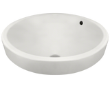 "Porcelain Vessel Sink, 18"", Round, Polaris, P28122"