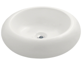 "Porcelain Vessel Sink, 19 7/8"", Round, Polaris, P021"