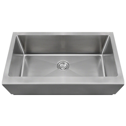 "Polaris 33"" Single Bowl Stainless Steel Apron Sink P504"