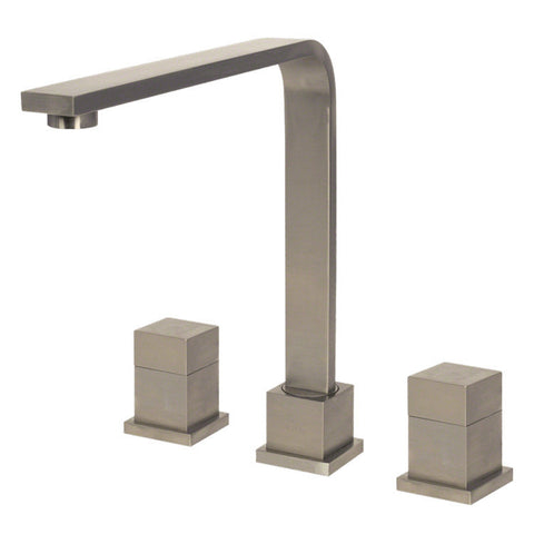 Sir Faucet Double Handle Kitchen Faucet - Brushed Nickel 744-BN