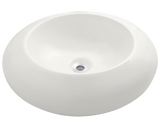 "Porcelain Vessel Sink, 19 5/8"", Round, Polaris, P09"