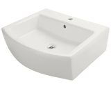 "Porcelain Vessel Sink, 22"", Rectangular, Polaris, P003"