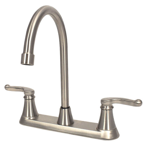 Sir Faucet Double Handle Kitchen Faucet - Brushed Nickel 7142-BN