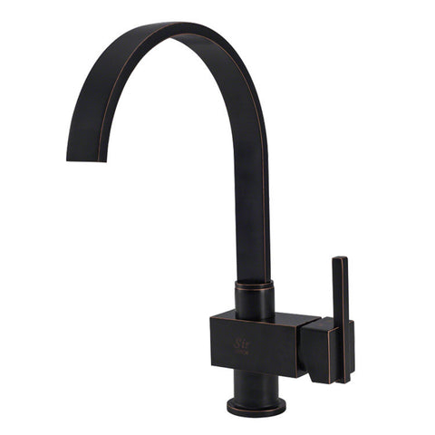 Sir Faucet Single Handle Kitchen Faucet - Antique Bronze 712-ABR