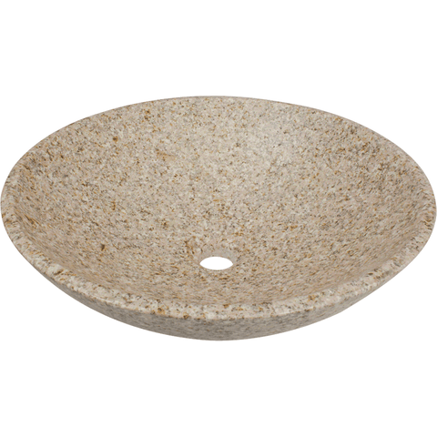 "Polaris 16 1/2"" Tan Granite Round Bathroom Vessel Sink P058TN"