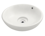 "Porcelain Vessel Sink, 19 5/8"", Round, Polaris, P043"