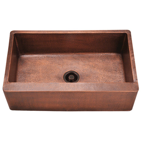 "Polaris 33"" Single Bowl Copper Farmhouse Sink P319"