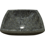 "Polaris 15 3/4"" Butterfly Blue Granite Square Bathroom Vessel Sink P758"