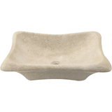 "Polaris 22 1/2"" Galaga Beige Marble Rectangular Bathroom Vessel Sink P768"