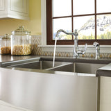"Moen 1800 Series 30"" x 21"" Stainless Steel 18 Gauge Double Bowl Farmhouse Kitchen Sink - G18220"