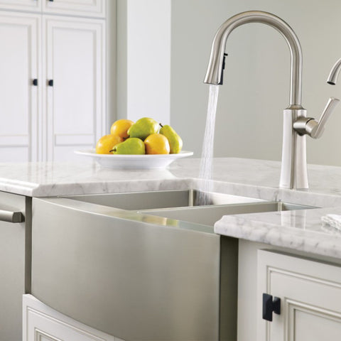 Stainless Farmhouse Sink 30 18 Gauge Single Bowl Moen 1800