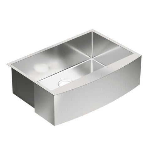 "Moen 1800 Series 30"" x 21"" Stainless Steel 18 Gauge Single Bowl Farmhouse Kitchen Sink - G18121"