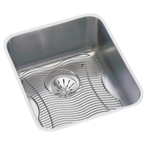 "Stainless Steel Bar Sink Kit, 16"", Lustertone, Elkay, ELUH1316PDBG"