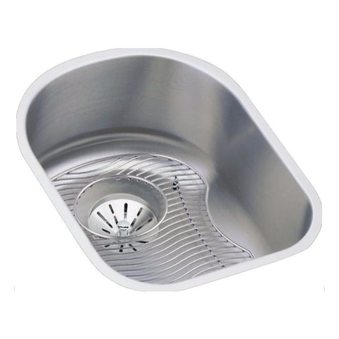 "Stainless Steel Bar Sink Kit, 14"", Lustertone, Elkay, ELUH1317DBG"