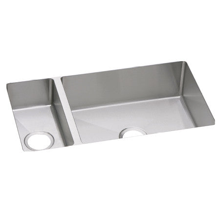 "Elkay Crosstown 16 Gauge Stainless Steel 32-1/4"" x 18-1/4"" x 10"", 30/70 Double Bowl Undermount Sink, EFRU321910"