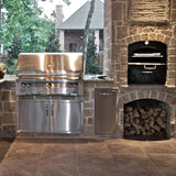 Built In Steel Pizza Oven, Family Sized, Wood Fired, Tuscan Chef - GX-CM - Showroom Sinks