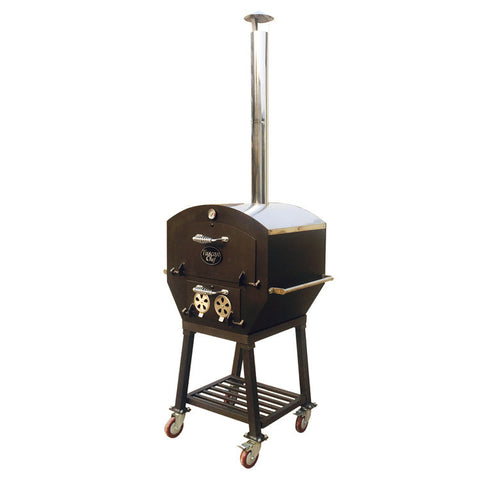 Tuscan Chef Medium Wood Fired Pizza Oven With Cart - GX-B2 - Real Pizza Ovens