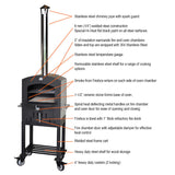 Tuscan Chef Mini Wood Fired Pizza Oven With Cart - GX-C1 - Real Pizza Ovens