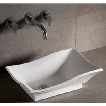"Whitehaus 20"" White Ceramic Rectangular Bathroom Vessel Sink - WHKN1078"