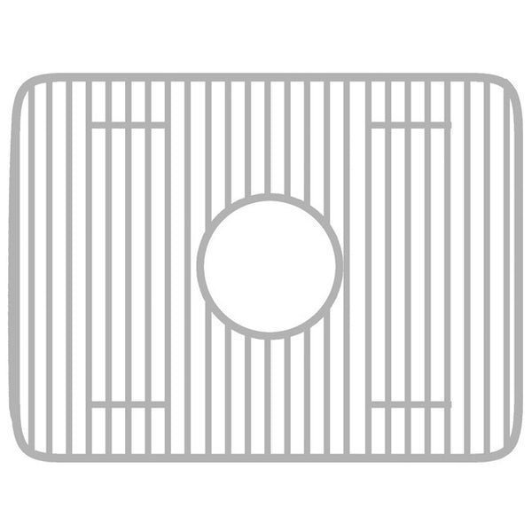 "Whitehaus WHREV3318 Stainless Steel Grid 15"" x 16"" for Reversible Series Fireclay Sinks"