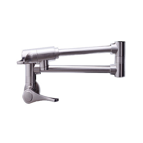 Dyconn Rio Grande Retractable Modern Wall Mount Pot Filler Faucet - Brushed Nickel WPF06-BN