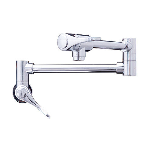 Dyconn Rio Grande Retractable Modern Wall Mount Pot Filler Faucet - Polished Chrome WPF06-CHR