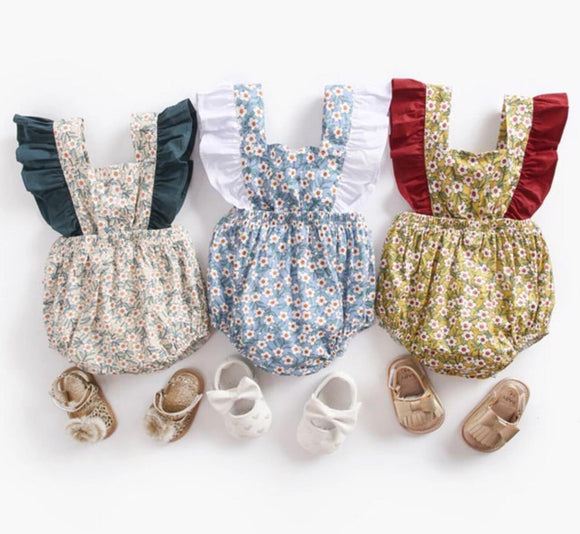 Vintage Inspired Girls Rompers