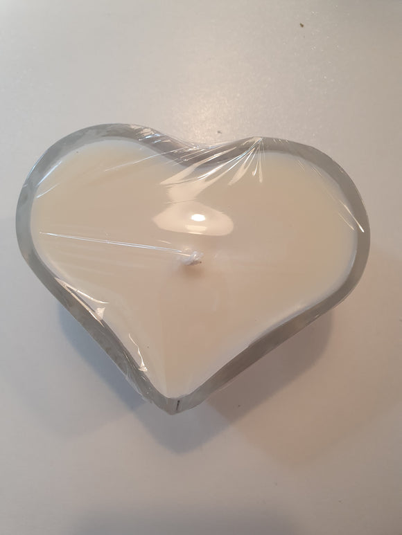 Glass Heart Soy Candles