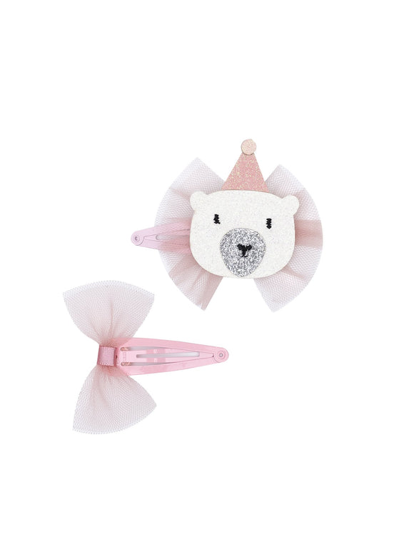 Well Dressed Bear Hair Clip Duo