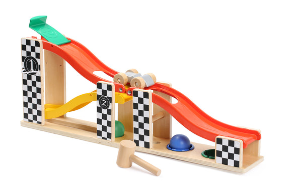 2 in 1 Racing Track and Pounding Tower