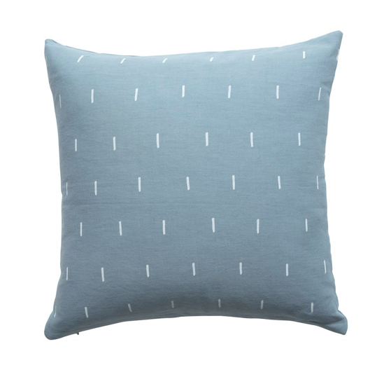Milk & Sugar Cadet Blue Dash Feather Cushion