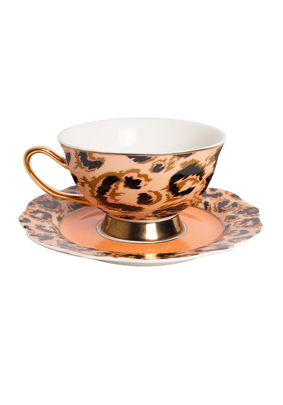 Wild Cat Cup and Saucer
