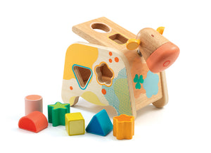 Wooden Cow Shape Sorter
