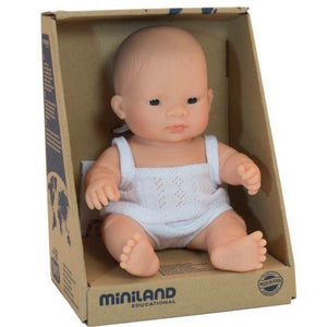 Miniland Baby Asian Girl Doll (21cm)