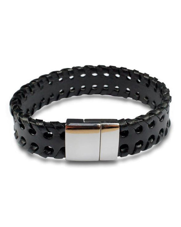 Mod Leather Bracelet with Stainless Steel Clasp