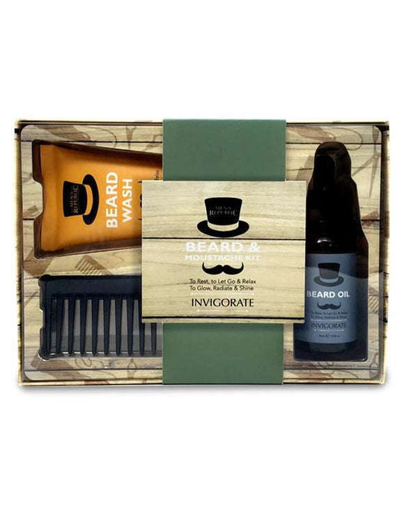 Men's Beard and Moustache Care Kit