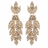 Gold Feathered Earrings