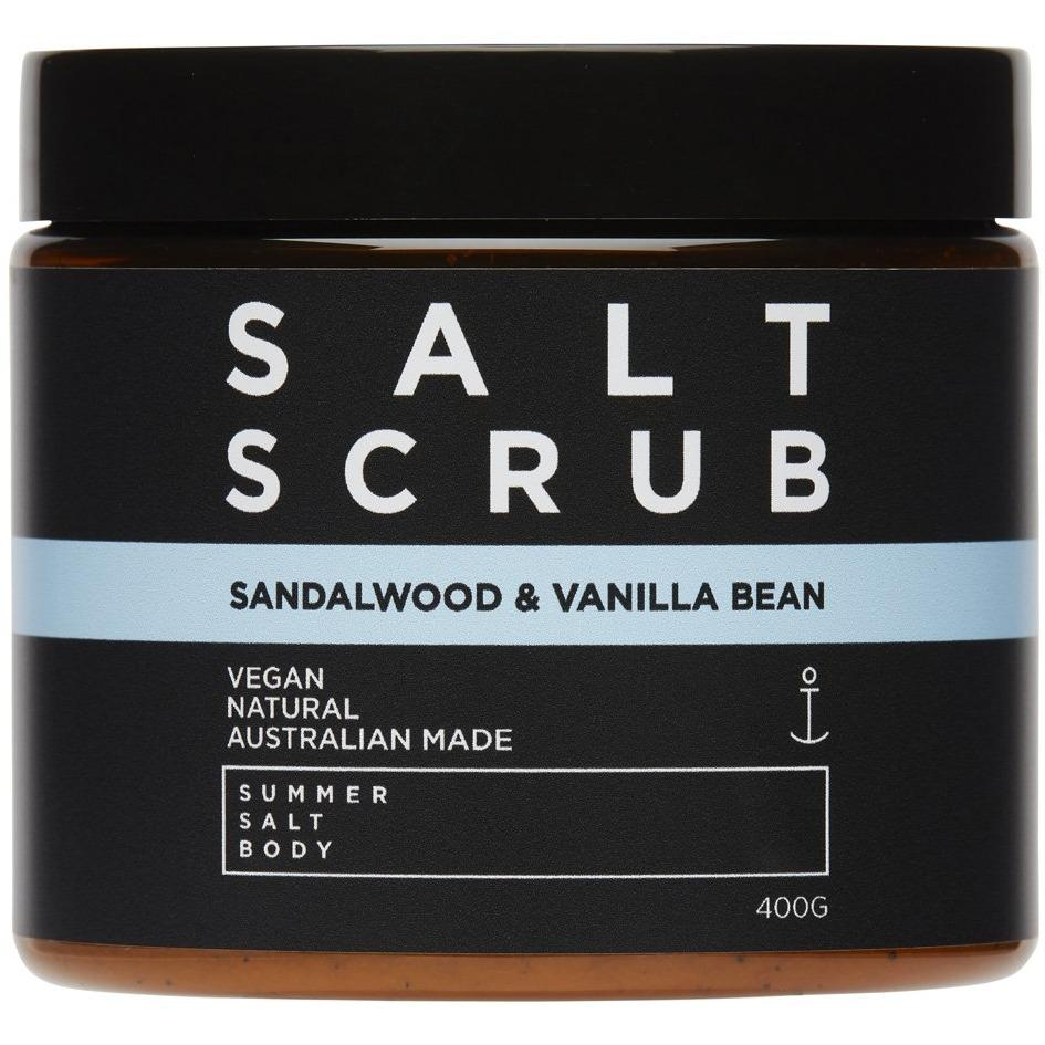 Sandalwood and Vanilla Bean Salt Scrub 400g tub