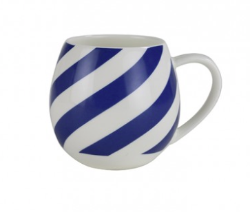 Mini Hug Me Mug - Blue Stripe