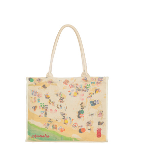 Beach and Market tote - beach scene