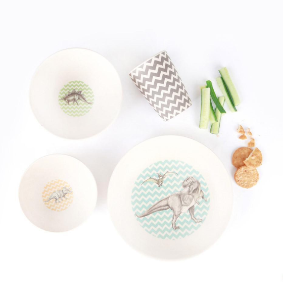 Bamboo 4 pc Dinosaur Trex Supper