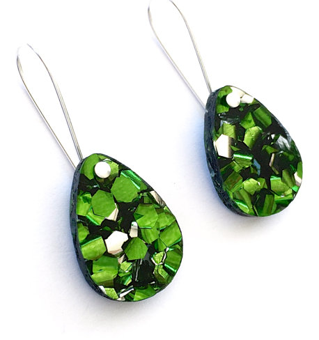 Green Baby Drop Earrings
