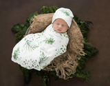 Baby Wrap swaddle with matching beanie- enchanted design