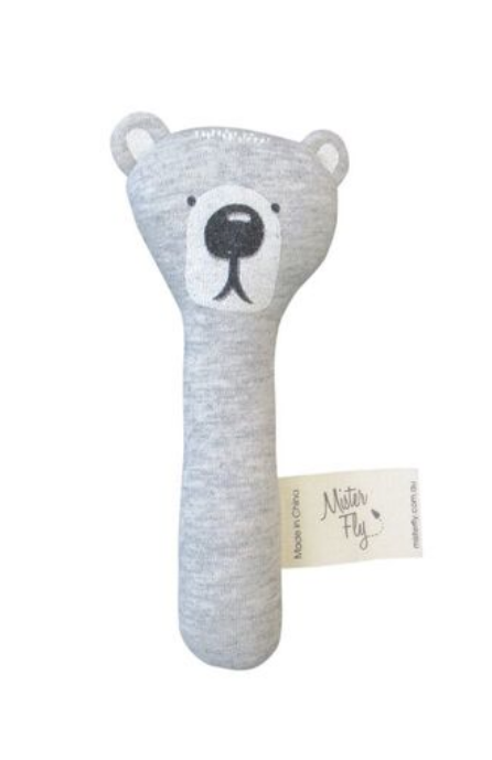 Mister Fly Bear Stick Rattle
