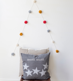 Twinkle twinkle grey cushion