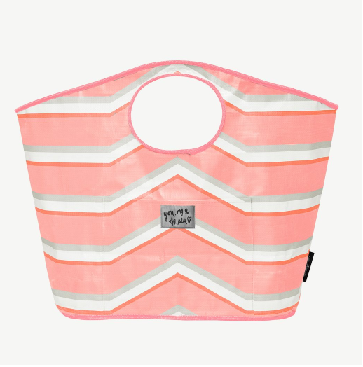 Carry all tote - pink stripe