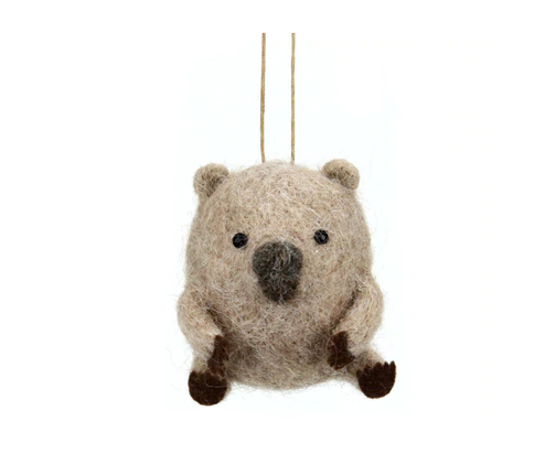 Hanging Wool Wombat