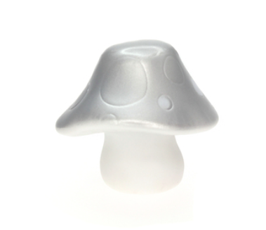 Mushroom night light silver
